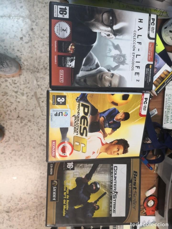 3 JUEGOS PC HALF LIFE, PES 6 Y COUNTER STRIKE (Juguetes - Videojuegos y Consolas - PC)