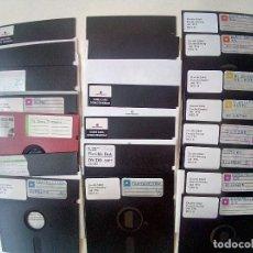 Videojuegos y Consolas: LOTE DE 21 DISKETTE 5 1/4 VARIADO GRABASOS Y VIRGENES+PORTA DISKETTES-VER FOTOS. Lote 175792325