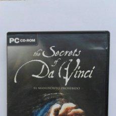 Videojuegos y Consolas: EL MANUSCRITO PROHIBIDO THE SECRETS OF DA VINCI AVENTURA GRÁFICA PC. Lote 175939015