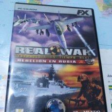 Videojuegos y Consolas: JUEGO DE PC ORDENADOR FX COLECCIÓN EL MUNDO REAL WAR . Lote 176589473