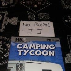 Videojuegos y Consolas: CAMPING TYCOON SÓLO JUEGO Y CAJA PC CD ROM MK INTERACTIVE. Lote 177206203