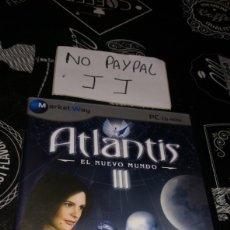 Videojuegos y Consolas: ATLANTIS III EL NUEVO MUNDO PC CD ROM MARKET WAY. Lote 177206412