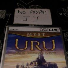 Videojuegos y Consolas: MYST URU CODE GAME DOBLADO CASTELLANO UBISOFT PC CD ROM. Lote 177206568
