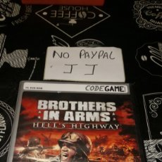 Videojuegos y Consolas: CODE GAME BROTHERS IN ARMS HELLS HIGHWAY UBISOFT PC DVD ROM. Lote 177206690