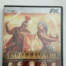 Videojuegos y Consolas: IMPERIUM III JUEGO PC. Lote 177218252