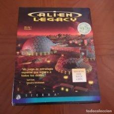Jeux Vidéo et Consoles: VIDEO JUEGO PC- ALIEN LEGACY -IBM 3 1/2 - 1.44 MB 7 DISQUETES-, COMPLETO, CAJA GRANDE. Lote 177339850