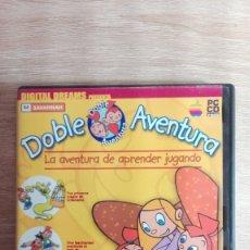 Videojuegos y Consolas: DOBLE AVENTURA-PC CD ROM-DIGITAL DREAMS-AÑO 2001-FUNCIONANDO-MUY DIFÍCIL.. Lote 179035498