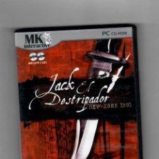 Videojuegos y Consolas: JACK EL DESTRIPADOR, NEW-TORK 1901 [PC] 2 DISCOS. Lote 49876498