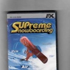 Videojuegos y Consolas: SUPREME NOWBOARDING [PC CD-ROM ]NUEVO PRECINTADO -TOTALMENTE EN ESPAÑOL. Lote 49629079