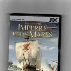 Videojuegos y Consolas: PATRICIAN III - IMPERIOS DE LOS MARES [PC CD-ROM] CON MANUAL. Lote 49634187