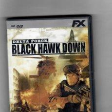 Videojuegos y Consolas: BLACK HAWK DOWN, PC-DVD-CON MANUAL - COMO NUEVO. Lote 180226873