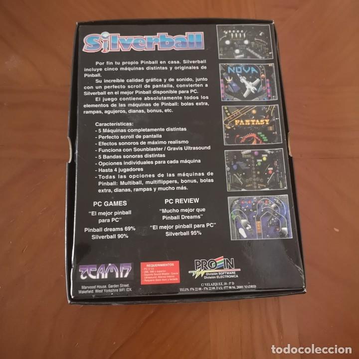 Videojuegos y Consolas: Juego pc SIlverball completo, disquete, manual, caja - Foto 2 - 180235062
