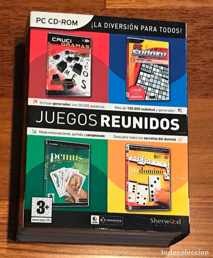 JUEGOS REUNIDOS PI CD-ROM 4 DCS, LOS QUE SE VEN EN FOTOS, SUDOKU, MUS, ETC... (Juguetes - Videojuegos y Consolas - PC)