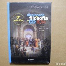 Videogiochi e Consoli: DICCIONARIO DE FILOSOFIA EN CD-ROM 3A EDICIÓN PRECINTADO. Lote 182150837