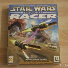 Videojuegos y Consolas: STAR WARS EPISODIO I RACER PC BOX CAJA CARTON CON POSTER. Lote 195168495