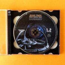 Videojuegos y Consolas: STAR TREK, DEEP SPACE NINE - HARBINGER - 2 CDS 5.0, PC CD-ROM, VERSIÓN 1.0 - VIACOM 1996, ORIGINAL. Lote 182474691