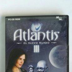 Videojuegos y Consolas: ATLANTIS III EL NUEVO MUNDO PC AVENTURA GRÁFICA. Lote 183633957