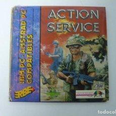 Videojuegos y Consolas: ACTION SERVICE DE ERBE / IBM PC Y COMPATIBLES / VIDEOJUEGO RETRO VINTAGE / DISKETTE. Lote 184790430