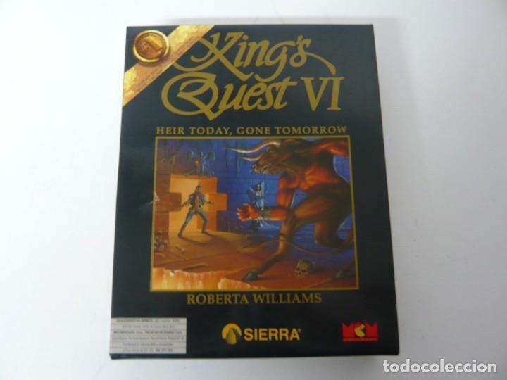 KING'S QUEST VI DE SIERRA - ERBE / IBM PC Y COMPATIBLES / VIDEOJUEGO RETRO VINTAGE / DISKETTE (Juguetes - Videojuegos y Consolas - PC)