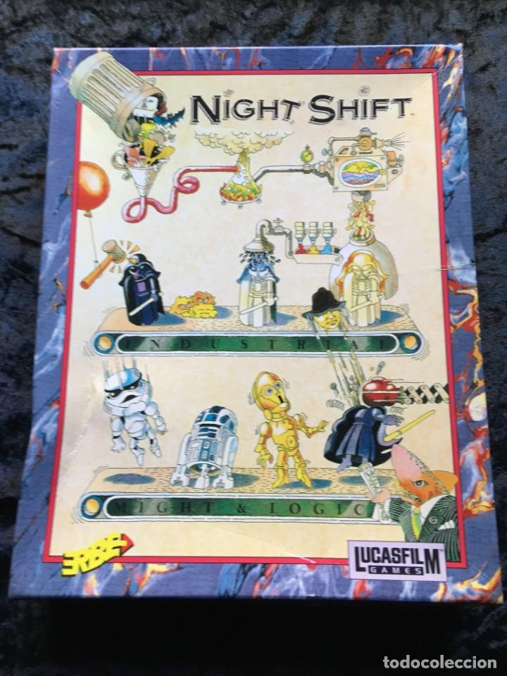 NIGHT SHIFT [LUCASFILMS GAMES - LUCASARTS] 1990 ERBE SOFTWARE [PC 5 1/4] EN CAJA - STAR WARS (Juguetes - Videojuegos y Consolas - PC)