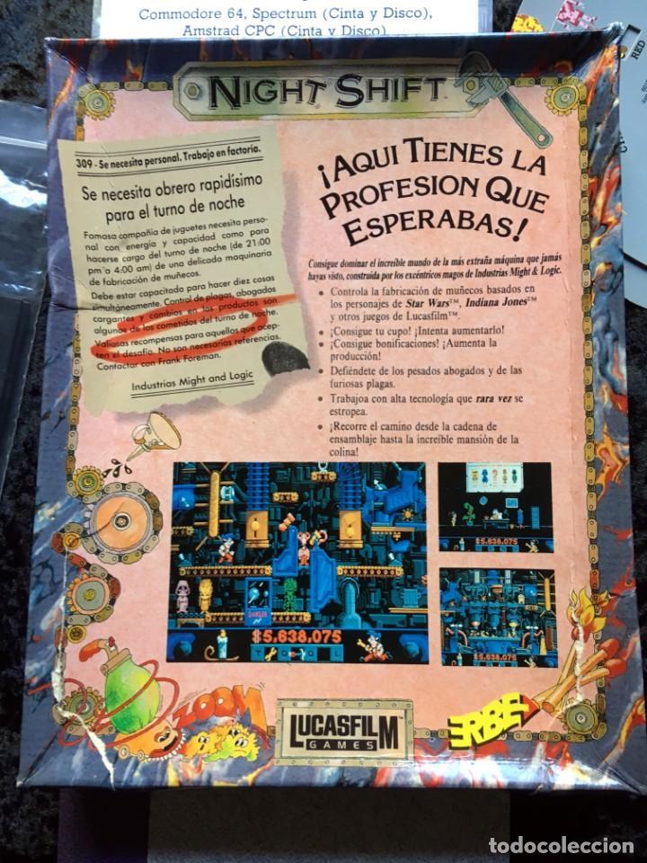 Videojuegos y Consolas: Night Shift [LucasFilms Games - LucasArts] 1990 Erbe Software [PC 5 1/4] en caja - Star Wars - Foto 2 - 186344398