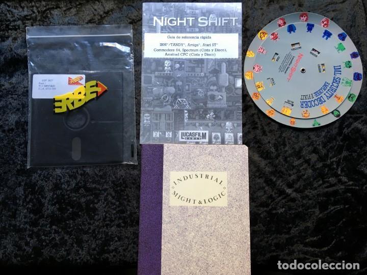 Videojuegos y Consolas: Night Shift [LucasFilms Games - LucasArts] 1990 Erbe Software [PC 5 1/4] en caja - Star Wars - Foto 4 - 186344398