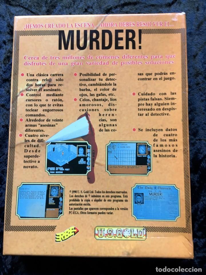 Videojuegos y Consolas: MURDER - ERBE SOFTWARE - U.S. GOLD - [PC 5 1/4] EN CAJA - Foto 4 - 186345607