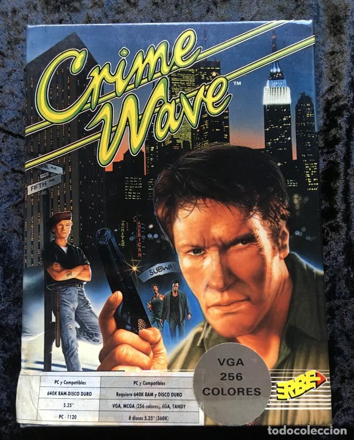CRIME WAVE - ERBE SOFTWARE - U.S. GOLD - [PC 5 1/4] EN CAJA (Juguetes - Videojuegos y Consolas - PC)