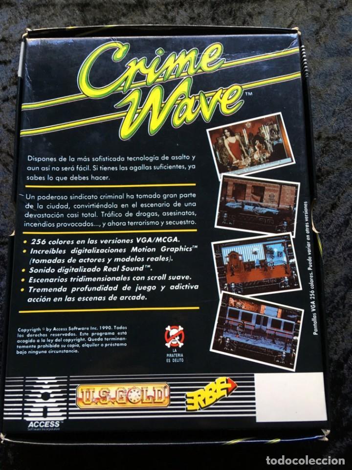 Videojuegos y Consolas: CRIME WAVE - ERBE SOFTWARE - U.S. GOLD - [PC 5 1/4] EN CAJA - Foto 3 - 186347113