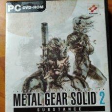 Videojuegos y Consolas: METAL GEAR SOLID 2, SUBSTANCE - PC DVD- PAL ESPAÑA-. Lote 189274720