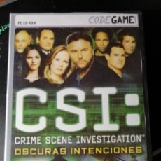 Videojuegos y Consolas: JUEGO CSI : CRIMEN SCENE INVESTIGATION PARA PC. Lote 222283240