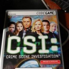 Videojuegos y Consolas: JUEGO CSI CRIMEN SCENE INVESTIGATION PARA PC. Lote 222283263