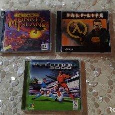 Videojuegos y Consolas: LOTE 3 JUEGOS MITICOS DE PC PCFUTBOL 2000 HALF LIFE Y MONKEY ISLAND. Lote 189432457