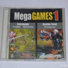 Videojuegos y Consolas: JUEGO PC MEGAGAMES I KNIGHTS & MERCHANTS EMERGENCY 2000 DIGITAL DREAMS MULTIMEDIA ESTRATEGIA ACCIÓN. Lote 189638471