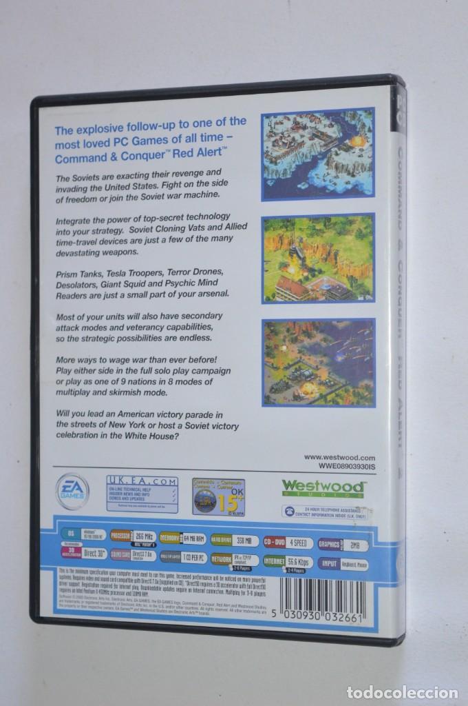 Videojuegos y Consolas: JUEGO PC COMMAND & CONQUER RED ALERT 2 INCLUYE YURIS REVENGE 2000 WESTWOOD STUDIOS EA GAMES CLASSIC - Foto 3 - 218177367