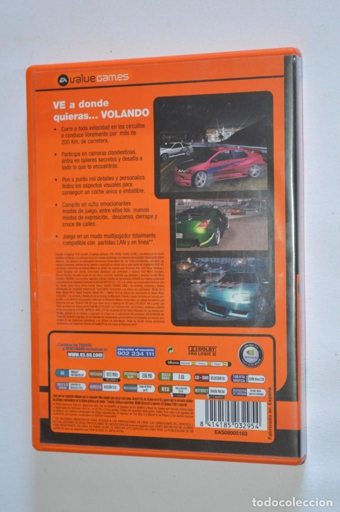 Videojuegos y Consolas: JUEGO PC NEED FOR SPEED UNDERGROUND 2 2004 ELECTRONIC ARTS EA SIMULADOR CARRERAS DE COCHES TUNNING - Foto 3 - 189646623