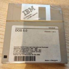 Videojuegos y Consolas: IBM DOS 5.0 . SISTEMA OPERATIVO PARA PC . EN 3 DISCOS PRECINTADOS - 3.5 DISKETTE. Lote 189934523