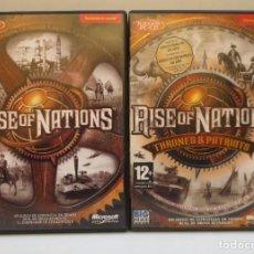 Videojuegos y Consolas: JUEGO PC - RISE OF NATIONS Y EXPANSION RISE OF NATIONS (THRONES & PATRIOTS ) - EN ESPAÑOL. Lote 191099121