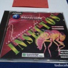 Videojuegos y Consolas: CD ROM ( LAS AVENTURAS DE LOS INSECTOS - INTERACTIVA ) 1993 ANAYA NUEVO. Lote 191128276