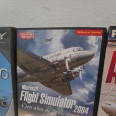 Videojuegos y Consolas: MICROSOFT FLIGHT SIMULATOR 2004 MÁS EXPANSIONES AEROPUERTOS ESPAÑOLES AIRBUS FLEET. Lote 191657991