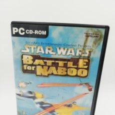 Videojuegos y Consolas: STAR WARS BATTLE FOR NABOO PC. Lote 191830175