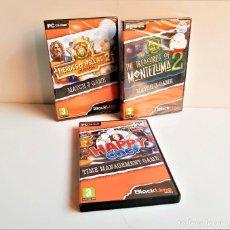 Jeux Vidéo et Consoles: COLECCION JUEGOS PC MONTEZUMA 2 + HAPPY CHEF + HEROES OF HELLAS 2. Lote 192925752