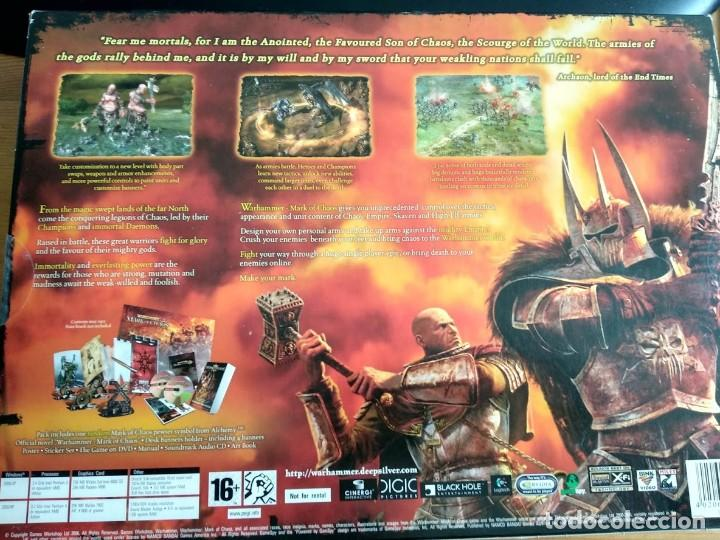 Videojuegos y Consolas: Warhammer mark of chaos collectors edition PC NUEVO SIN USAR - Foto 4 - 193576774