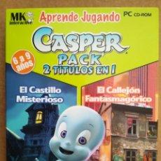 Videojuegos y Consolas: JUEGO PC CASPER: EL CASTILLO MISTERIOSO/EL CALLEJÓN FANTASMAGÓRICO. ¡ÚNICO EN TODOCOLECCIÓN!. Lote 193924476