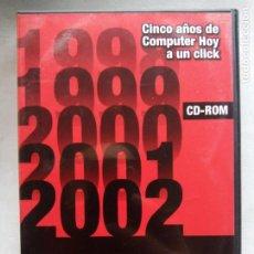 Videojuegos y Consolas: COMPUTER HOY. CINCO AÑOS A UN CLICK 1998-2002. CAJA CON 4 CD-ROM.. Lote 194067276