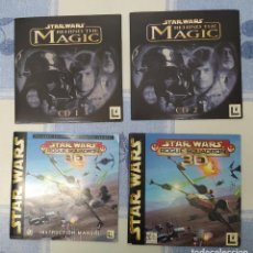 Videojuegos y Consolas: STARWARS DETRAS DE LA MAGIA Y JUEGO STARWARS ROGUE SCUADRON. Lote 194255201