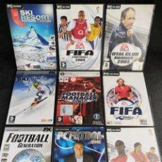 Videojuegos y Consolas: LOTE 9 JUEGOS PC DVD DEPORTES (1). Lote 194269203