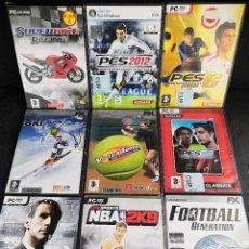 Videojuegos y Consolas: LOTE 9 JUEGOS PC DVD DEPORTES (2). Lote 194269386