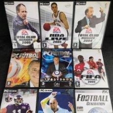 Videojuegos y Consolas: LOTE 9 JUEGOS PC DVD DEPORTES (3). Lote 194269458