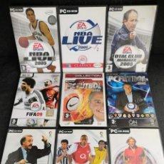 Videojuegos y Consolas: LOTE 9 JUEGOS PC DVD DEPORTES (6). Lote 194269993
